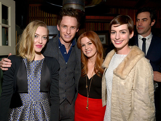 FIVE'S A CROWD photo | Amanda Seyfried, Anne Hathaway, Eddie Redmayne, Isla Fisher, Sacha Baron Cohen