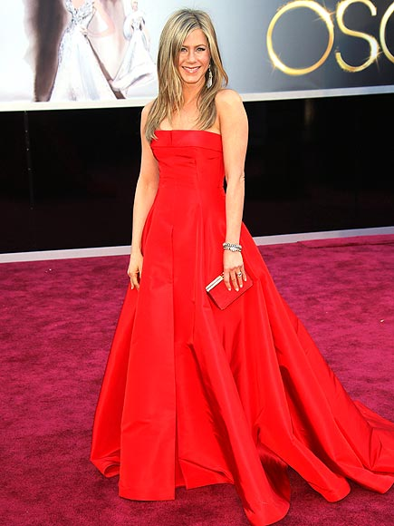 JENNIFER ANISTON IN RED photo | Jennifer Aniston