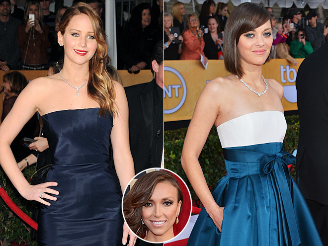 photo | Giuliana Rancic, Jennifer Lawrence, Marion Cotillard