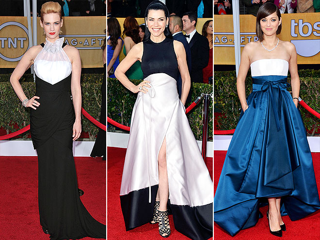 TWO-TONE GOWNS photo | January Jones, Julianna Margulies, Marion Cotillard