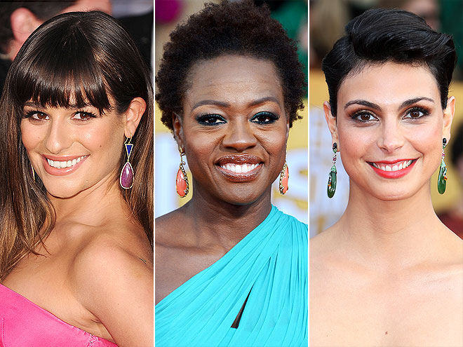 BRIGHT, BOLD EARRINGS photo | Lea Michele, Morena Baccarin, Viola Davis