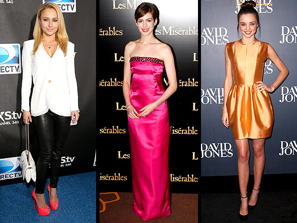 hayden panettiere 600x450 Red Carpet Trend Report: The Scoop on Peep Toe Pumps, V Day Dresses and Topknots