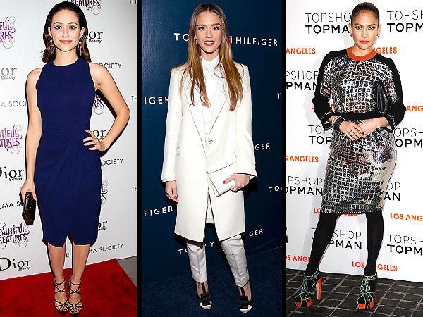 jessica alba 600x450 Red Carpet Trend Report: The Scoop On Navy, Lady Suits & Disco Ball Dresses