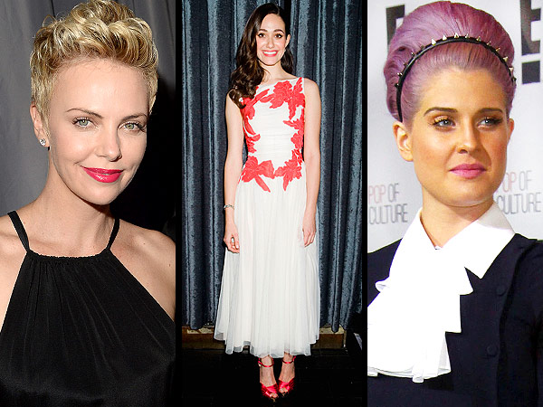 Get Out the Brights But Ditch the Bronzer: What's Hot on the Red Carpet Right Now | Charlize Theron, Emmy Rossum, Kelly Osbourne