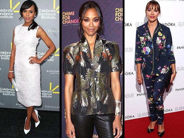 Celebrity dresses, jewelry
