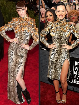 Katy Perry animal print faceoff