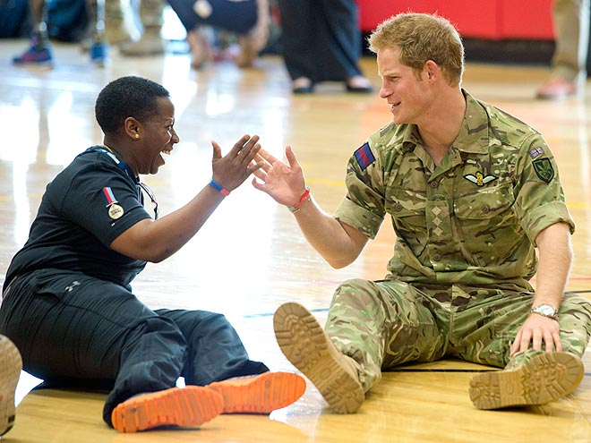 GOOD SPORT photo | Prince Harry