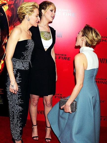 When Jennifer Lawrence Wins a Red Carpet, in 8 Hilarious Photos| Jennifer Lawrence, Individual Class, Jena Malone