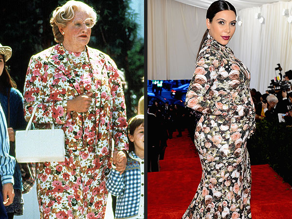 Kim Kardashian and Other Celebrities Who've Channeled Mrs. Doubtfire