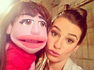 See Lea Michele and the Glee Cast  with Their Puppet Look-Alikes
