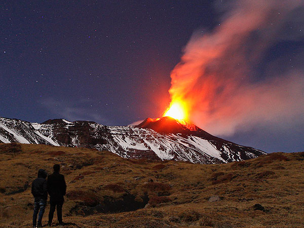 Mount Etna Erupts in Sicily