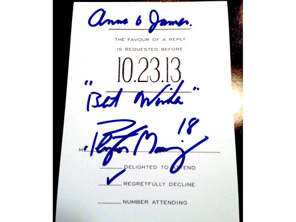 Peyton Manning Personally Responds to Fans' Wedding Invitation| Peyton Manning