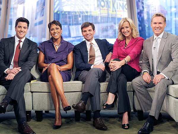 Good Morning America Cast Bids Farewell to Josh Elliott| NBC, Dancing With the Stars, Good Morning America, Amy Robach, George Stephanopoulos, Robin Roberts