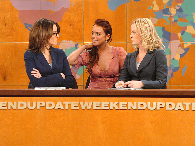1. SNL: &#39;WEEKEND UPDATE&#39; WITH LINDSAY LOHAN photo | Amy Poehler, Lindsay Lohan, Tina Fey