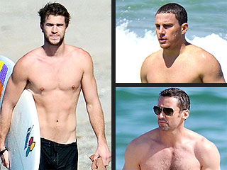 Hollywood's Sizzling Beach Bums (and Abs n' Pecs)