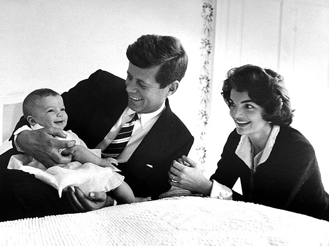 BABY MAKES THREE photo | Jacqueline Bouvier Kennedy Onassis, John F. Kennedy