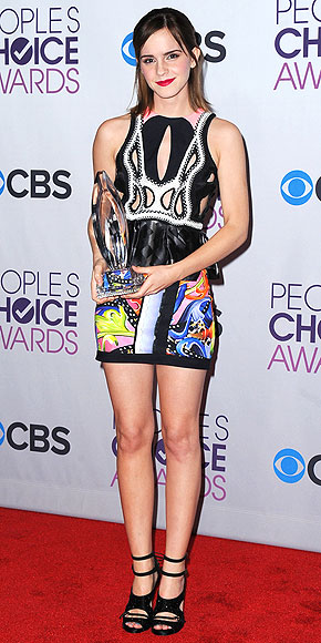 People's Choice Awards, Emma Watson, Peter Pilotto, People's Choice Awards dresses, printed dress