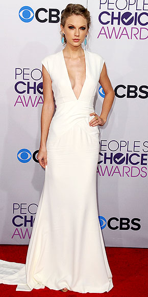 People's Choice Awards, Taylor Swift, White dress, People's Choice Awards dresses