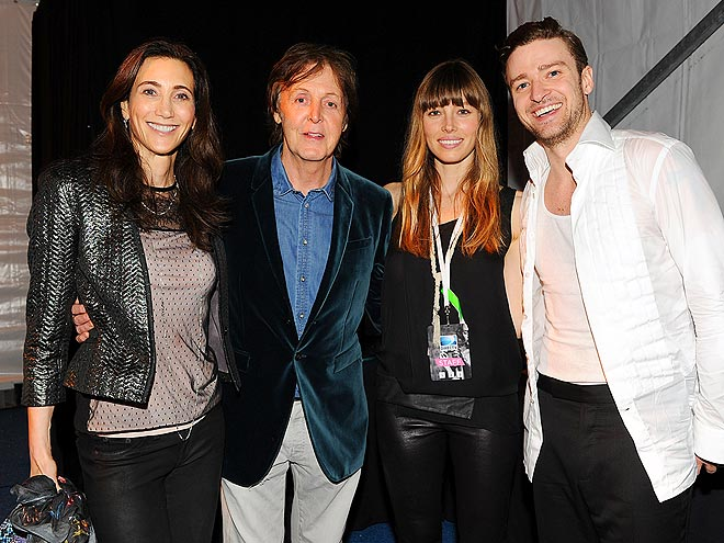 SPOUSAL SUPPORT photo | Jessica Biel, Justin Timberlake, Paul McCartney