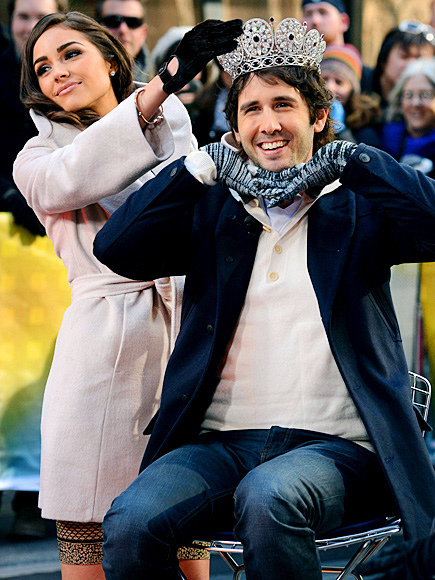 Josh Groban and New Miss Universe Olivia Culpo