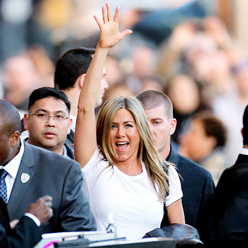 'HI' FIVE photo | Jennifer Aniston