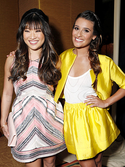 FROCK OUT photo | Jenna Ushkowitz, Lea Michele