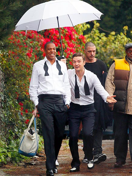 SINGING IN THE RAIN photo | Jay-Z, Justin Timberlake