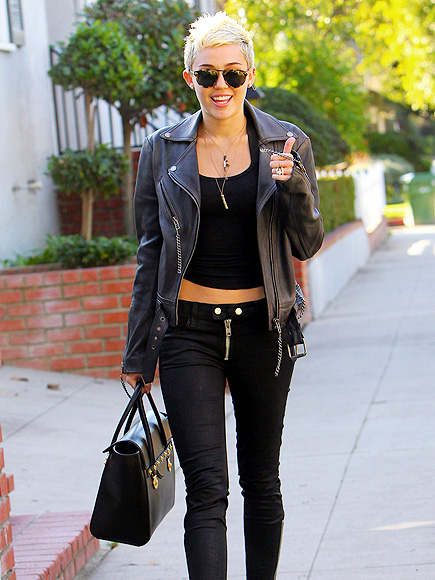 LEATHER & FACE photo   Miley Cyrus