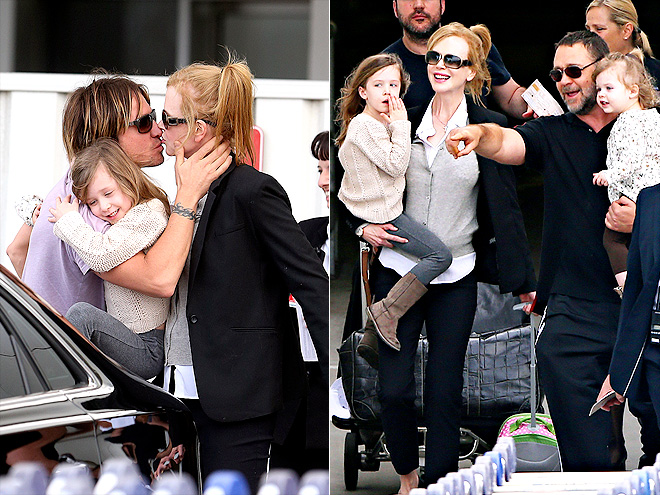 AUSSIE ARRRIVAL photo | Keith Urban, Nicole Kidman, Russell Crowe