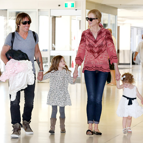 JUST PLANE CUTE photo | Keith Urban, Nicole Kidman