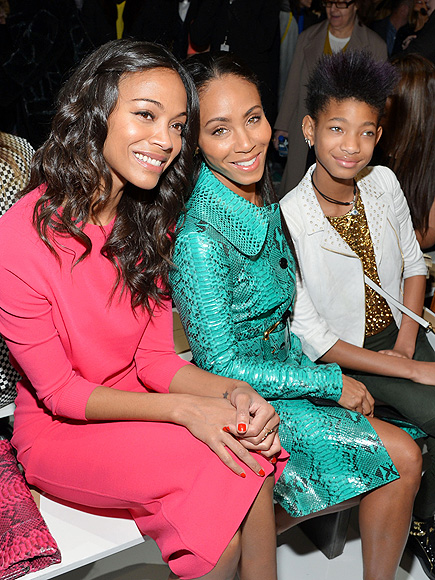 TRENDY TRIO photo | Jada Pinkett Smith, Willow Smith, Zoe Saldana