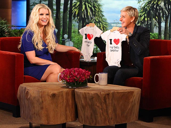 Jessica Simpson Pregnant Ellen DeGeneres