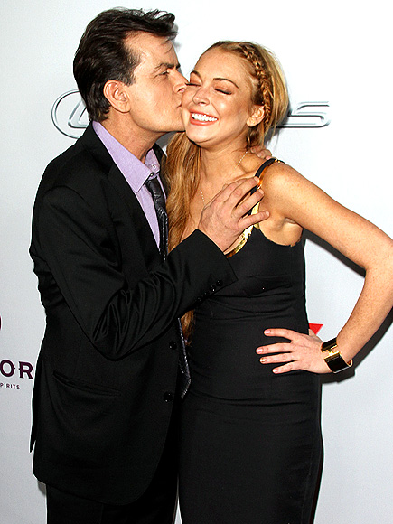 LIP SMACKER photo | Charlie Sheen, Lindsay Lohan