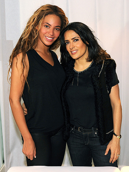 THINK TANK photo | Beyonce Knowles, Salma Hayek