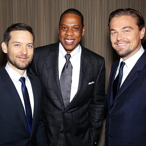 A FINE VINTAGE photo | Jay-Z, Leonardo DiCaprio, Tobey Maguire