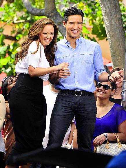 NICE 'SAVE' photo | Leah Remini, Mario Lopez