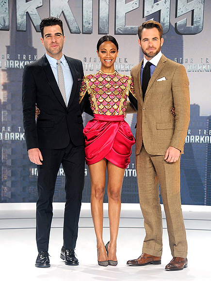 POWER OF THREE photo | Chris Pine, Zachary Quinto, Zoe Saldana