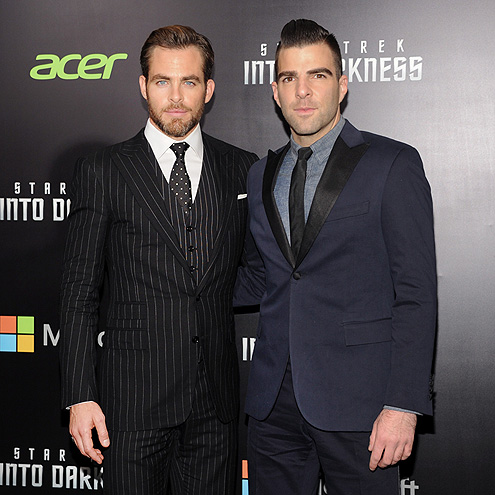 DARK NIGHT photo | Chris Pine, Zachary Quinto
