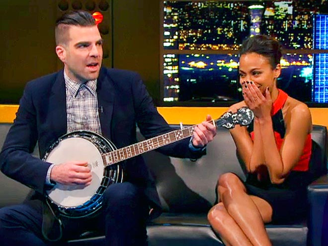 STRING YOU ALONG photo | Zachary Quinto, Zoe Saldana