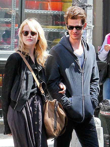 BEHIND THE SCENES photo | Andrew Garfield, Emma Stone