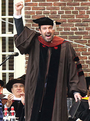 Ben Affleck honorary degree, Ben Affleck Matt Damon, Affleck Brown University