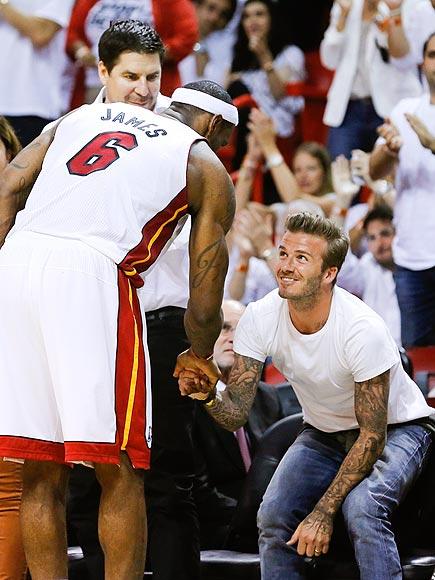 FACE TO FACE photo | David Beckham, LeBron James