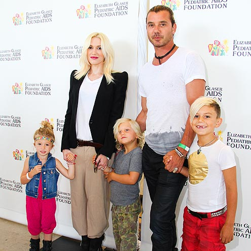 Family photo of the musician, married to Gavin Rossdale,  famous for No Doubt & Tragic Kingdom.