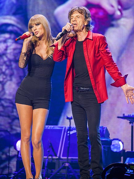 SINGALONG photo | Mick Jagger, Taylor Swift