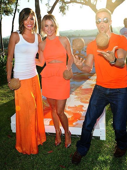 POPPING BY photo | Derek Hough, Jessica Szohr, Julianne Hough