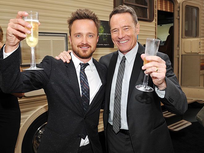 TOAST WITH THE MOST photo | Aaron Paul, Bryan Cranston