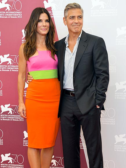 ITALIAN JOB photo | George Clooney, Sandra Bullock