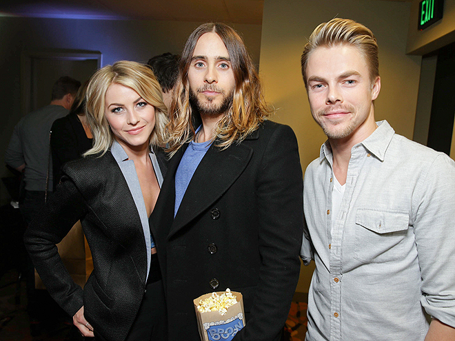 CLUBBING IT photo | Derek Hough, Jared Leto, Julianne Hough