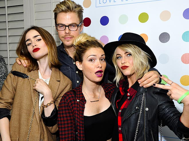 FANTASTIC FOUR photo | Derek Hough, Julianne Hough, Lily Collins