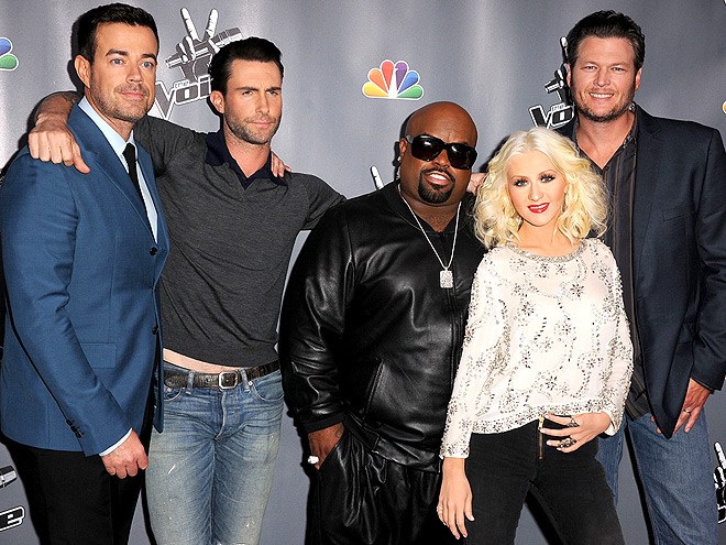 GROUP-ON photo | Blake Shelton, Christina Aguilera